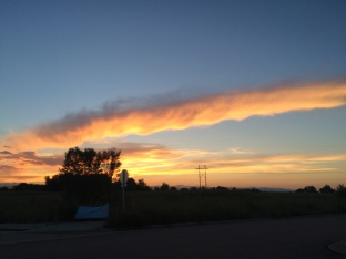 Sunset in Denver, Colorado