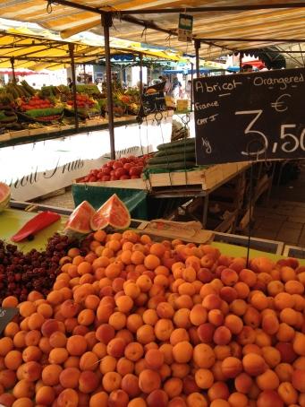Market in La Rochelle, France