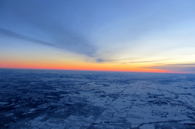 Sunrise on the way to Chicago