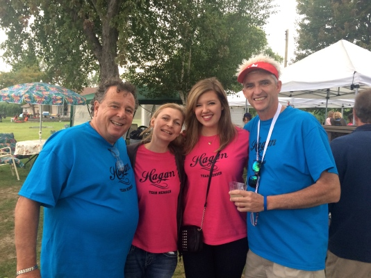 Uncle G, Julie, me & Dad