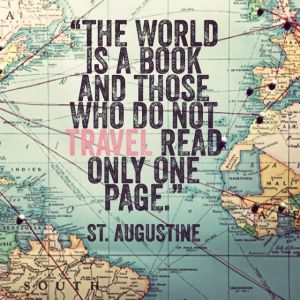 Those who do not travel read only one page