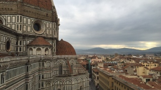 Looking out over Florence