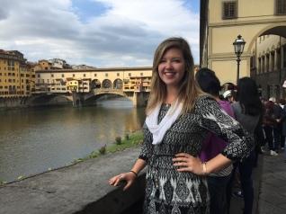 The Ponte Vecchio in the background.